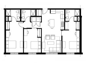 D - 3 Bedroom / 3 Bath $3,350 - $3,800 1,200 – 1,247 SF
